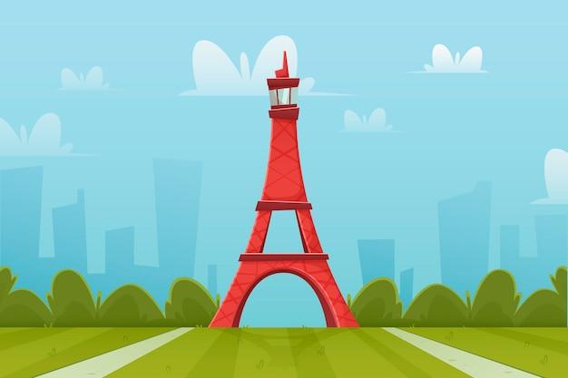 Достопримечательности города - фон для видеоконференций