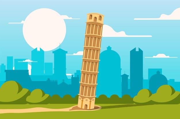 City landmarks background for video conferencing