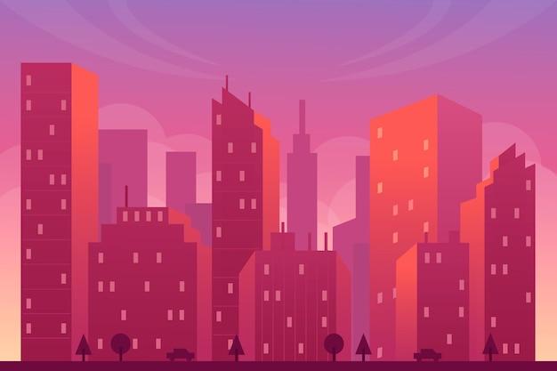 街のランドマークの背景