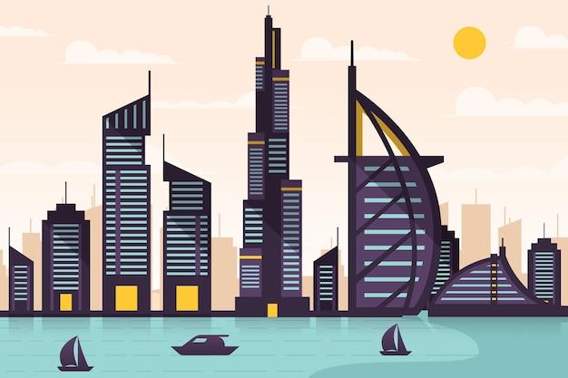 City landmarks wallpaper for video conferencing