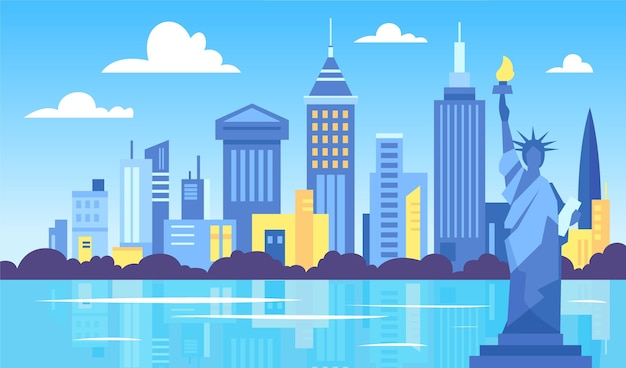 City landmarks wallpaper for video conferencing