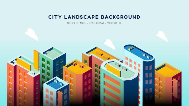 等尺性の都市景観の背景