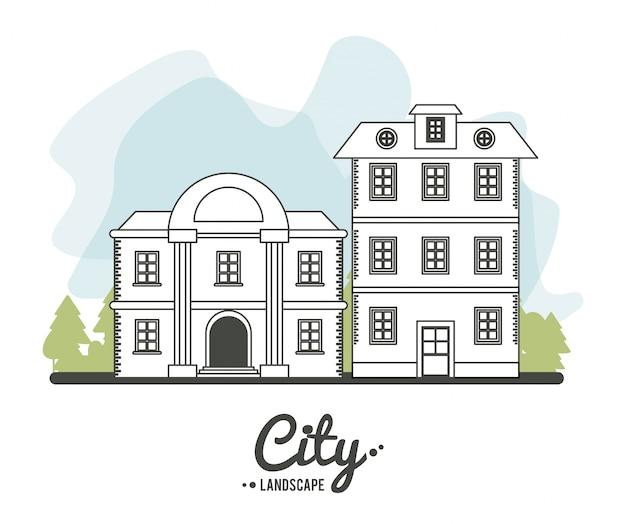 도시 경관 은행 및 클래식 하우스 스토리 라인