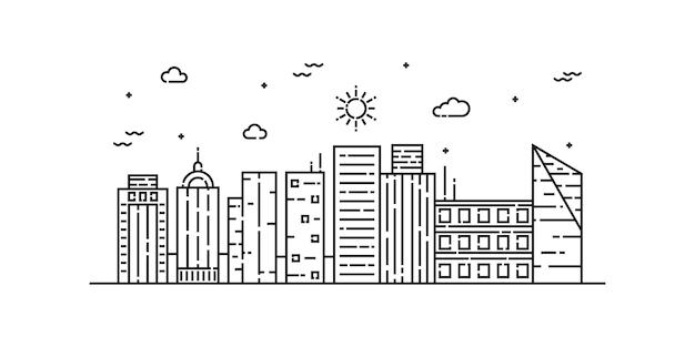 City landscape line art