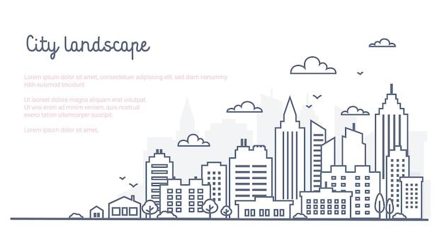 City landscape template
