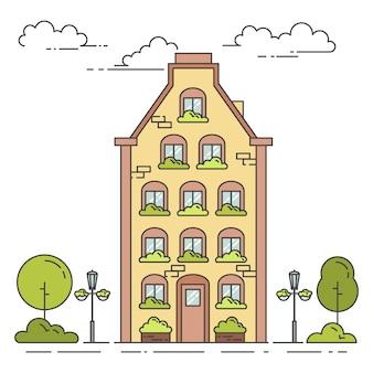 집 도시 풍경
