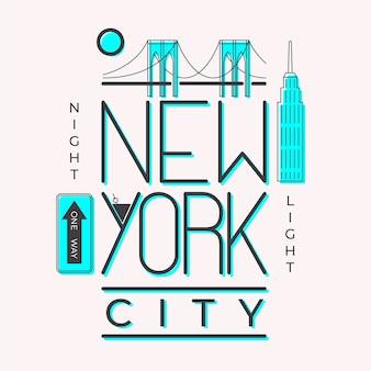 Città che segna concetto con lettere di new york