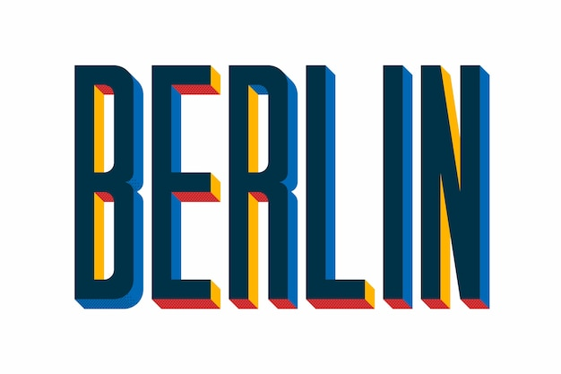 City lettering with berlin concept