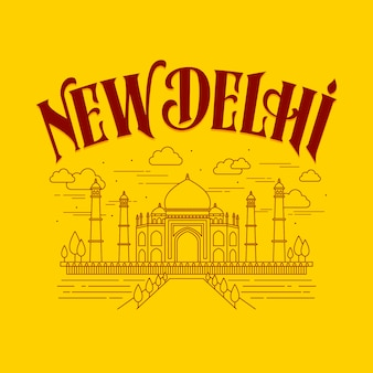 City lettering with new delhi concept