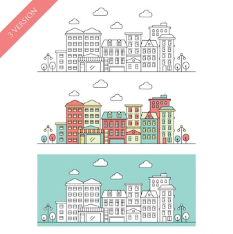 City line vector illustration