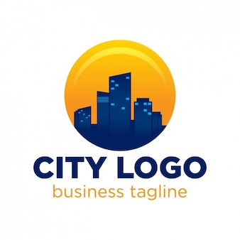 Город шаблон логотипа
