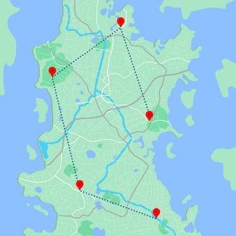 모든 종류의 디지털 정보 그래픽 및 인쇄 간행물 gps 지도용 도시 지도