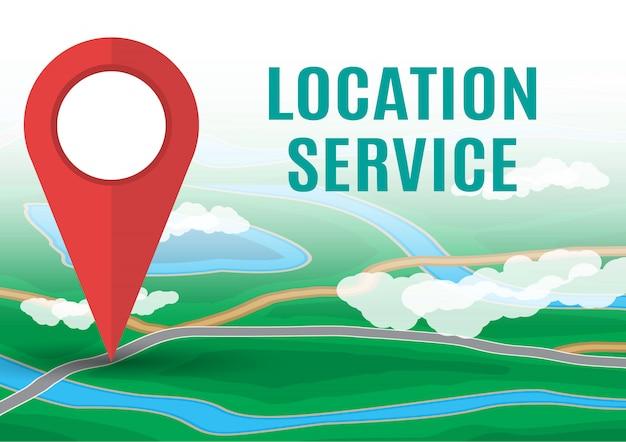 Значок карты города. gps и навигация