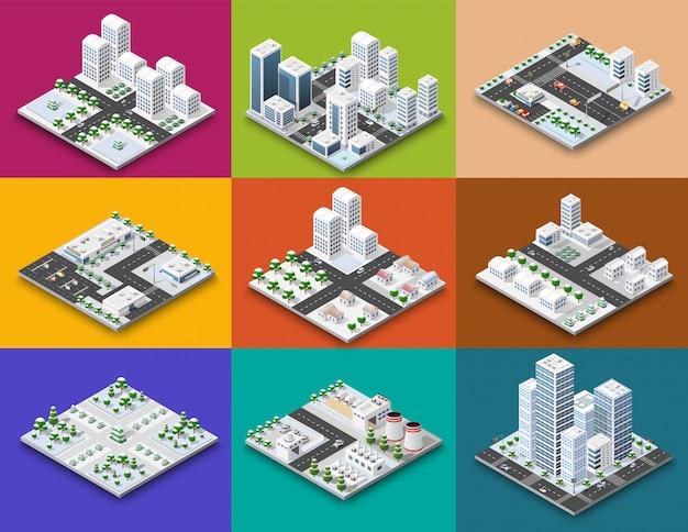 都市モジュールのアイソメトリックコンセプト