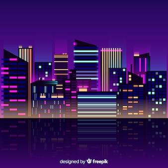 City neon background