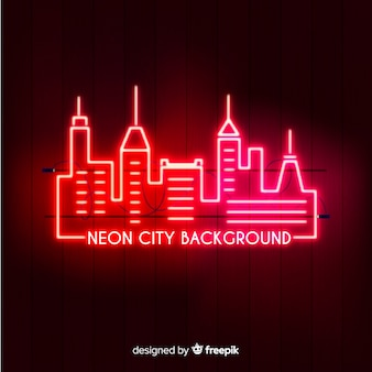 City neon background