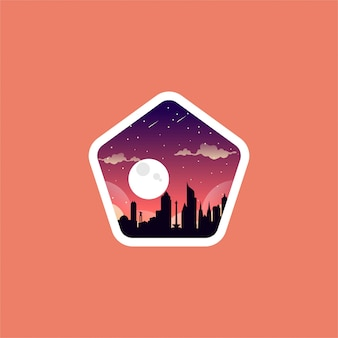 City night logo design
