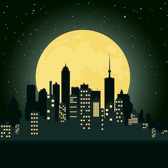 Città durante la notte