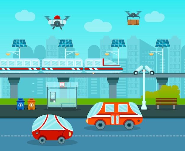 未来の組成の都市
