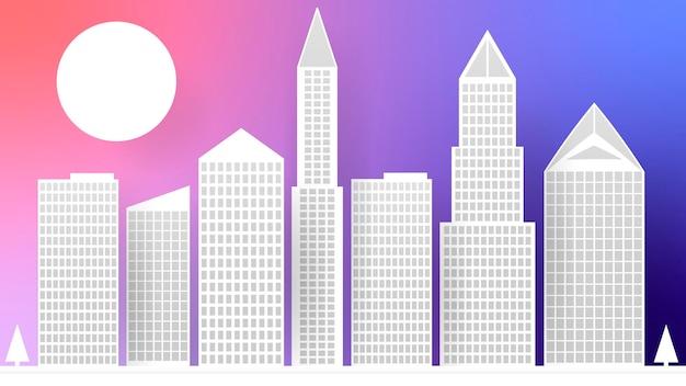 Городской бумажный абстрактный разноцветный фон для ваших нужд. векторная иллюстрация