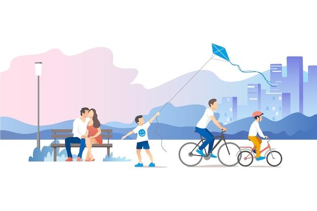 Иллюстрация городского парка