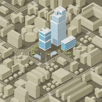 City plan isometric