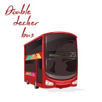 도시 대중 교통 서비스, 현대적인 차량, 유명한 런던 버스.