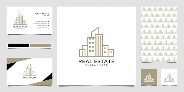 City real estate logo design and business card