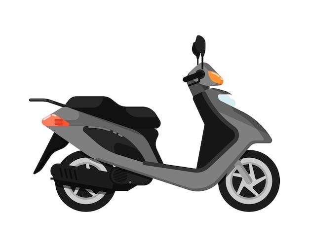 Городской скутер изолированных значок в плоском дизайне