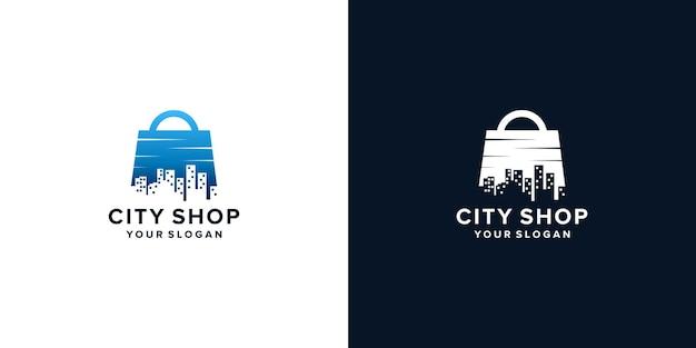 City shop logo design