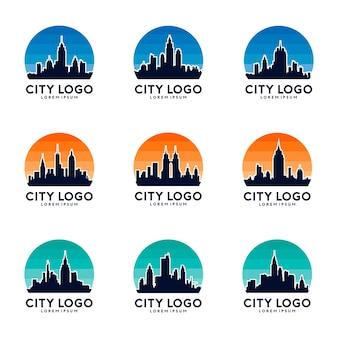 City & Sky Logo Design Set