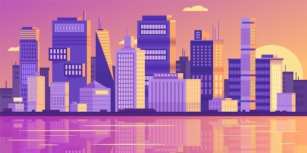도시 스카이 라인 랜드 마크 그림