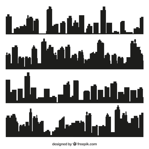 skyline vectors photos and psd files free download rh freepik com city landscape silhouette vector city skyline silhouette free vector