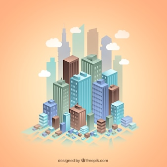 City skyscrapers