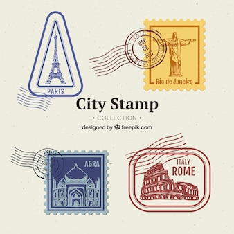 City stamp collection