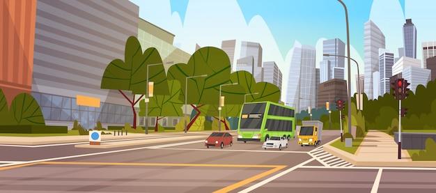 City street небоскреб здания road view современный городской пейзаж сингапур центр города