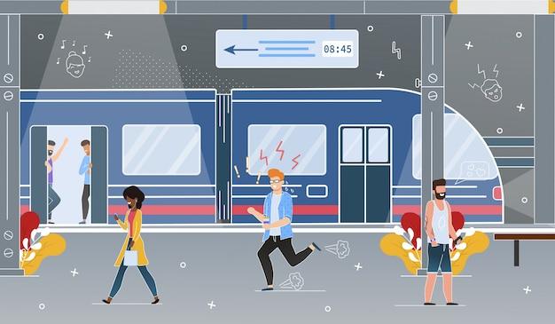 City subway underground station