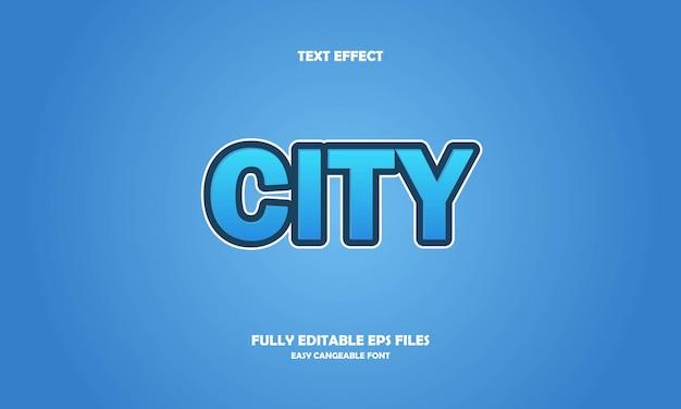 City text effect