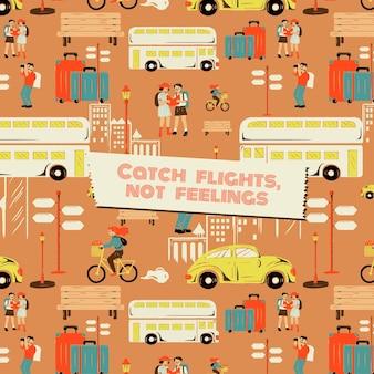 Modello di viaggio per tour della città per agenzie di marketing