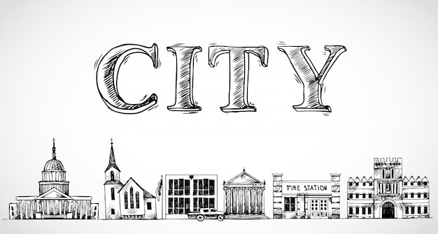 City town background
