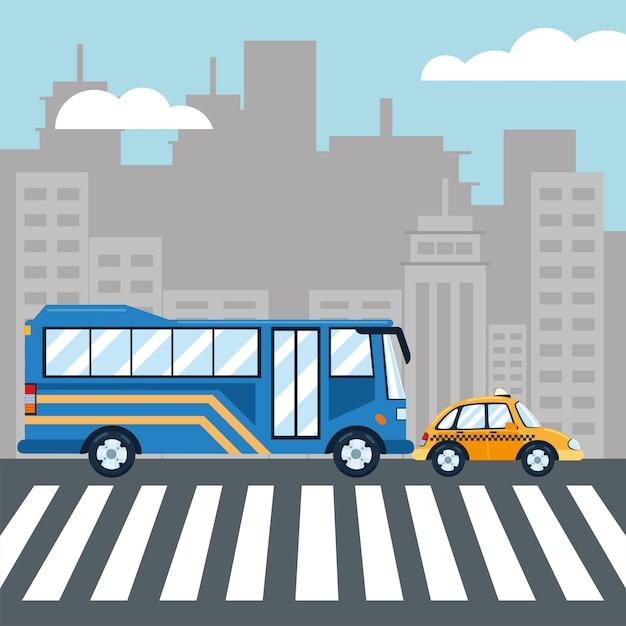 도시 교통 버스 택시 서비스