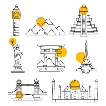 City travel linear landmarks