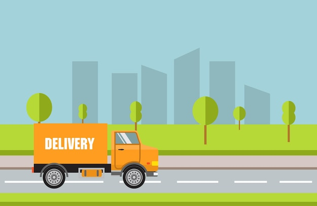 City truck delivery