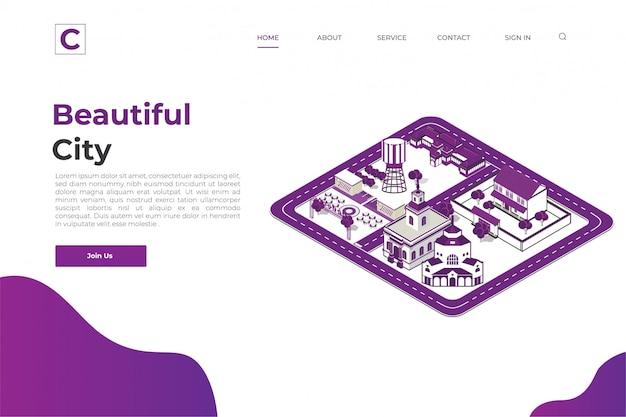 City website landing page