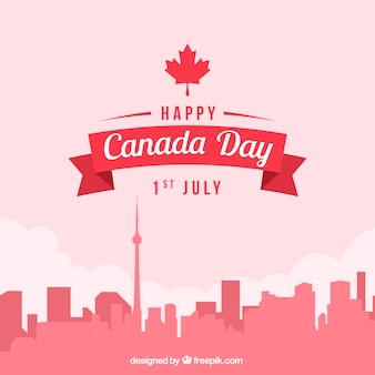 Cityscape background for canada day