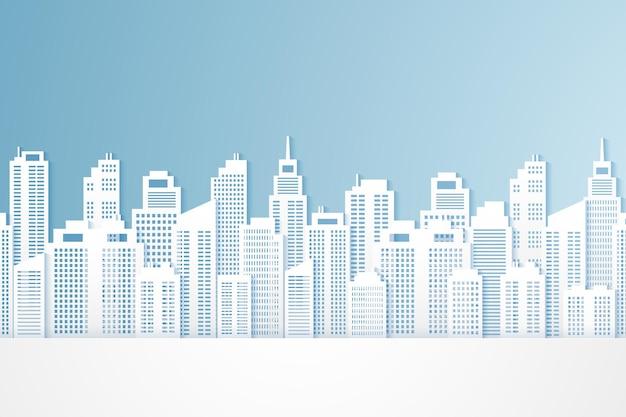 街並み、紙の建物