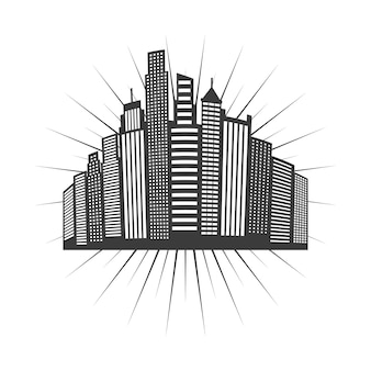 Cityscape skyline design, vector illustration eps10 graphic