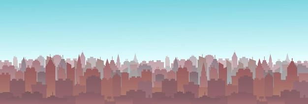 도시 풍경 스카이 라인