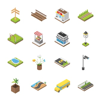 Cityscapes architectural icons