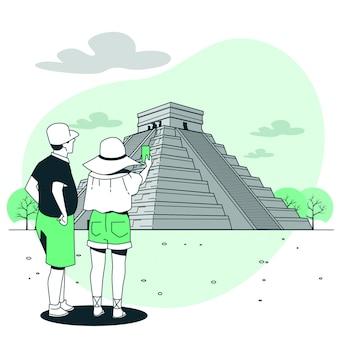 Иллюстрация концепции сьюдад-де-мексико